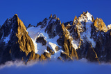 Aiguilles De Chamonix at Sunset with Clouds Rising, Haute Savoie, France, Europe, September 2008 Photographic Print by Frank Krahmer