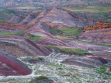 Colourful Rolling Hills at the Border of Azerbaijan, David Gareji Nature Reserve, Georgia, May 2008 Photographic Print by  Popp