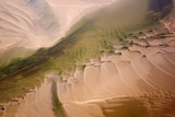 Aerial View of Water Channel in the Sand, Hallig, Germany, April 2009 Photographic Print by  Novák