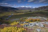 View Along Rapadalen Valley, Sarek National Park, Laponia World Heritage Site, Lapland, Sweden Photographic Print by  Cairns