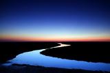 River at Sunrise, Hallig Hooge, Germany, April 2009 Photographic Print by  Novák