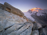 Monte Rosa (4,634M) Viewed from Hohtälligrat, at Sunset, Wallis, Switzerland, September 2008 Photographic Print by  Popp-Hackner