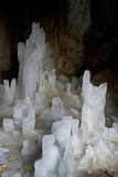 Ice Forming Stalagmite Structures in Ledena Pecina, Obla Glava, Durmitor Np, Montenegro Photographic Print by  Radisics
