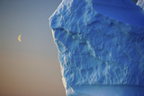 Edge of Iceberg with the Moon in the Sky, Greenland, August 2009 Photographic Print by  Jensen