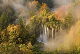 Veliki Prstavci Waterfalls Close to Gradinsko Lake at Dawn, Upper Lakes, Plitvice Lakes Np, Croatia Photographic Print by  Biancarelli