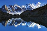 Mountain Landscape, Lac Blanc with Aiguilles De Chamonix, Mont Blanc at Right, Haute Savoie, France Photographic Print by  Krahmer