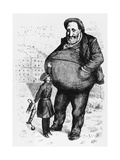 Can the Law Reach Him The Dwarf and the Thief Giclee Print by Thomas Nast