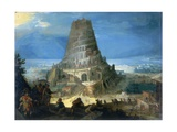 The Tower of Babel Giclee Print by Lucas van Valckenborch