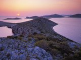 View from Mana Island at Sunset, Kornati National Park, Croatia, May 2009 Photographic Print by  Popp-Hackner