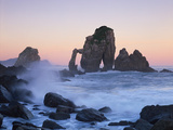Rock Arches in the Sea, Gaztelugatxe, Basque Country, Bay of Biscay, Spain, October 2008 Photographic Print by  Popp-Hackner