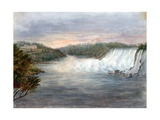 American Falls at Niagara from the Table Rock on the Canada Side, July 22, 1846 Giclee Print by Michael Seymour