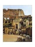The Interior of the Colosseum in Rome Giclee Print by C.W. Eckersberg