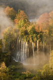 Veliki Prstavci Waterfalls Close to Gradinsko Lake, Dawn, Upper Lakes, Plitvice Lakes Np, Croatia Photographic Print by  Biancarelli