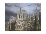 Roof of Milan Cathedral Giclee Print by Luigi Ossip Premazzi