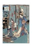 Geisha with Hibachi Giclee Print by Utagawa Kunisada II