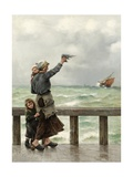 Fisherman's Homecoming Giclee Print by August Hagborg