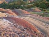Colourful Hills Along the Border Region to Azerbaijan, David Gareji Nature Reserve, Georgia Photographic Print by  Popp