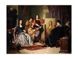 Leonardo Da Vinci Painting the Mona Lisa Giclee Print by Cesare Maccari