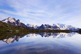 Lacs Des Cheserys with Aiguille Vert, Aiguilles De Chamonix with Mont Blanc, Haute Savoie, France Photographic Print by Frank Krahmer