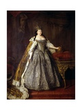 Empress Anna Ioannovna (Anna of Russia) Giclee Print by Louis Caravaque