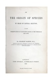 Title Page of the Origin of Species Giclee Print by Charles Darwin