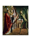 The Devil Presenting St. Augustin with the Book of Vices Giclee Print by Michael Pacher