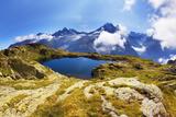 Mountain Landscape, Lacs Des Cheserys and Aiguilles Rouges, Haute Savoie, France, Europe Photographic Print by Frank Krahmer