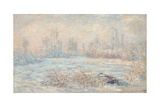Le Givre (View of Vetheuil in Winter, Val-D'Oise, Ile-De-France) Giclee Print by Claude Monet