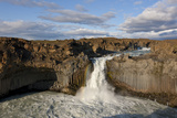 Aldeyjarfoss Waterfall on the Skjalfandafljot River, Thingeyjarsyslur, Iceland, August 2009 Photographic Print by  Bergmann