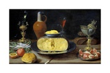 Breakfast Still Life with Cheese and Goblets Giclee Print by Jacob Fopsen Van Es