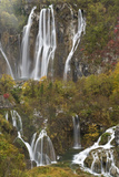 Plitvicka Slap and Sastavci Waterfalls, Plitvice Lakes National Park, Croatia, October 2008 Photographic Print by  Biancarelli