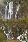 Plitvicka Slap and Sastavci Waterfalls, Plitvice Lakes National Park, Croatia, October 2008 Photographic Print by  Biancarelli