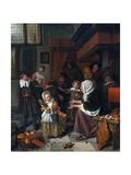 The Feast of St. Nicholas (Christmas) ジクレープリント : ヤン・ハフィクス・スティーン