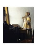Young Woman with a Pearl Necklace Giclee Print by Jan Vermeer