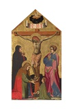 The Crucifixion with the Virgin Mary, St. Mary Magdalene, St. John the Evangelist, and a Saint Giclee Print by Jacopo di Paolo