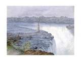 Grand Falls of the Niagara from the Observatory at Goat Island, July 22, 1846 Giclee Print by Michael Seymour