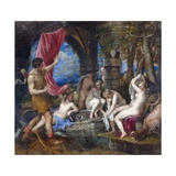 Diana and Actaeon Giclee Print by  Titian (Tiziano Vecelli)