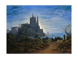 Gothic Church on a Cliff by the Sea by Karl Friedrich Schinkel Giclee Print