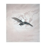 Owl Flying Against a Moonlit Sky Giclee Print by Caspar David Friedrich