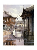View of Shanghai Giclee Print by Jean Henri Zuber