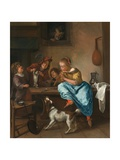 Children Teaching a Cat to Dance (The Dancing Lesson) Giclee Print by Jan Steen