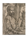 Andreas Vesalius Dissecting the Muscles of Cadaver Giclee Print