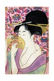 Kushi (Comb) Gicléetryck av Kitagawa Utamaro