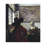 Officer and a Laughing Girl Giclee Print by Jan Vermeer
