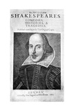 Portrait of William Shakespeare Giclee Print by Martin Droeshout