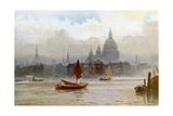 The Thames Giclee Print by Frederick Burgess