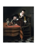 Sleeping Man Having His Pocket Picked Giclee Print by Nicolaes Maes