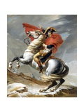 Napoleon Crossing the Saint-Bernard Pass Gicléetryck av Jacques-Louis David