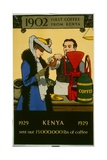 1902 First Coffee from Kenya Poster Giclee Print