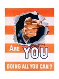 Are You Doing All You Can World War II Poster Giclee Print